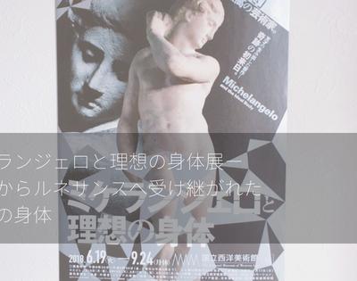 ミケランジェロと理想の身体展ー古代からルネサンスへ受け継がれた理想の身体