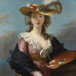 エリザベート=ルイーズ・ヴィジェ・ルブラン 「麦わら帽子をかぶった自画像」