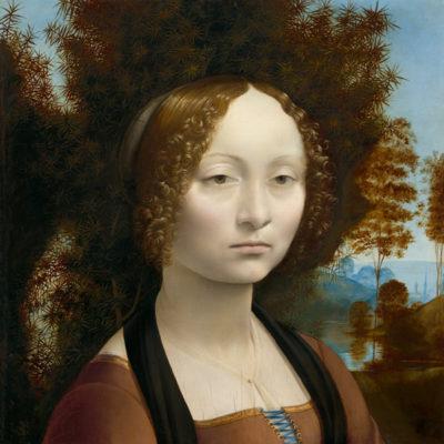 早く本物に会いに行きたい「ジネヴラ・デ・ベンチの肖像 」レオナルド・ダ・ヴィンチ
