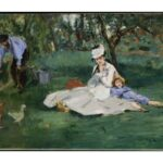 画家のつながりを感じる絵【アルジャントゥイユの庭でのモネ一家】エドゥアール・マネ